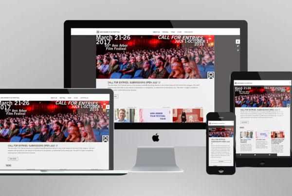 AAFF website homepage print screen.
